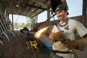 Elijah Koerner welding Rose Float wireframe