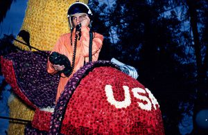Ron Simons as the man on the moon during the 1962 Rose Parade.