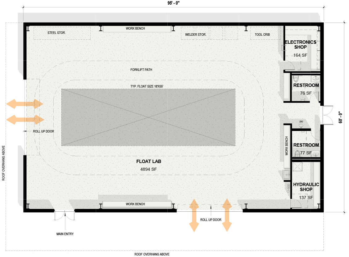 Rose Float Lab Floor Plan