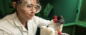 Brooke Singleton working in lab