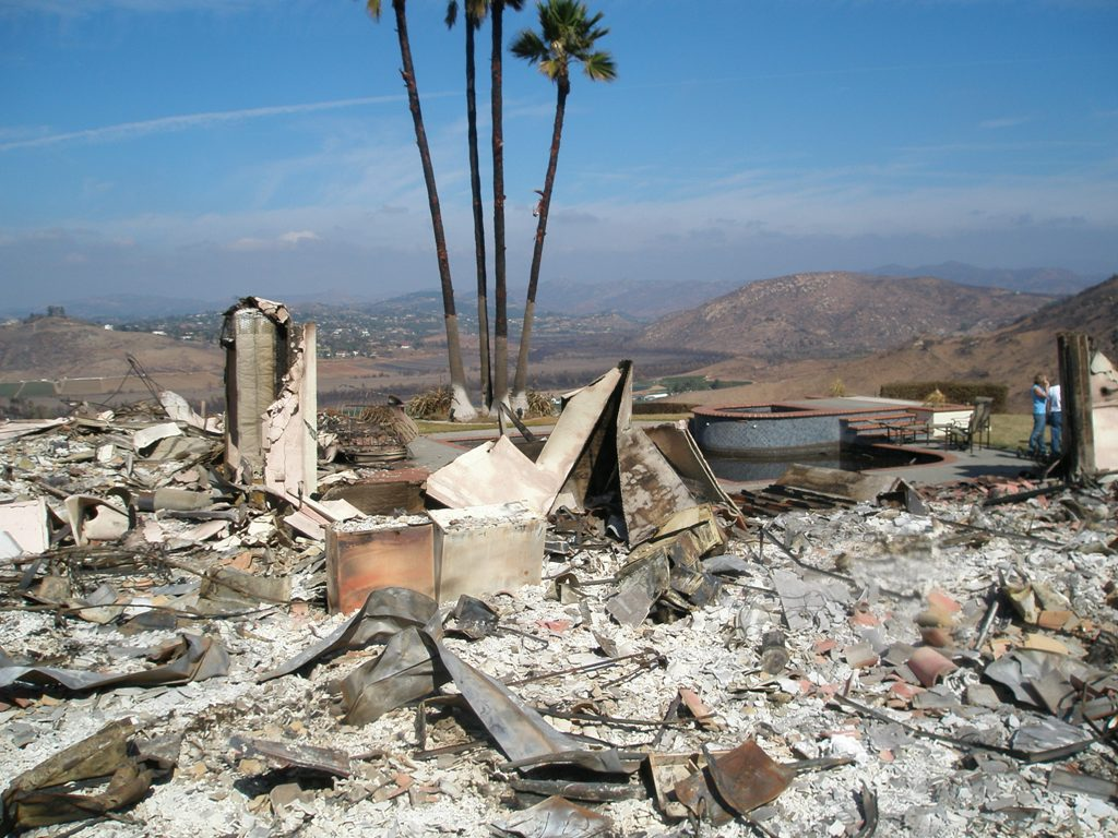 California Wildfires damage