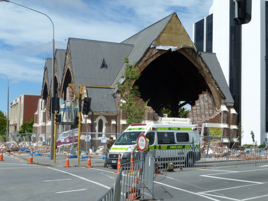 New Zealand Earthquake building damage