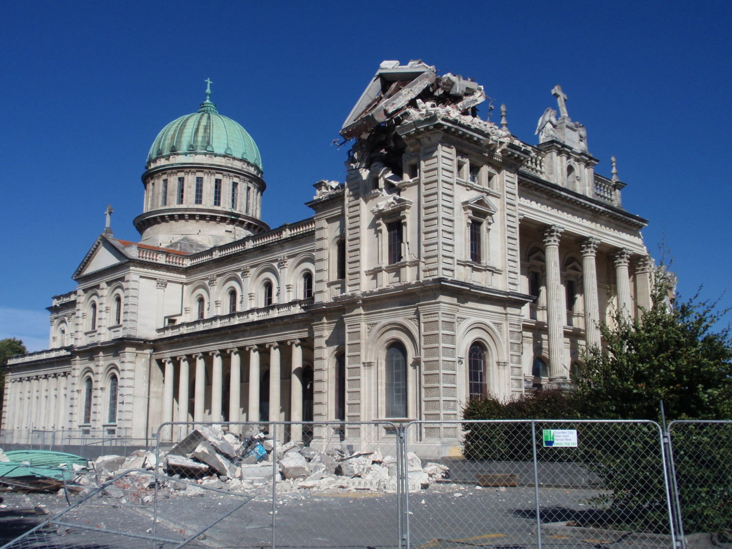 New Zealand Earthquake cathedral damage