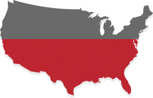 United States map graphic showing 51% of population as women