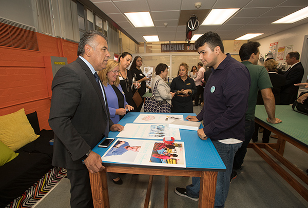 The grand opening of Innovation Orchard at Ganesha High School, part of the Student Innovation Idea Lab for Cal Poly Pomona.